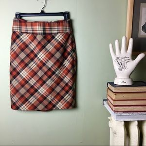 The Limited Plaid Pencil Skirt size 0
